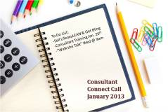 Consultant Connect Call Jan 2013