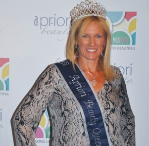 "Tricia at Apriori Beauty's annual Consultant celebration, MLB  2014 (Making  Life Beautiful) in Las Vegas, where she was voted ""Queen for the Day!"""