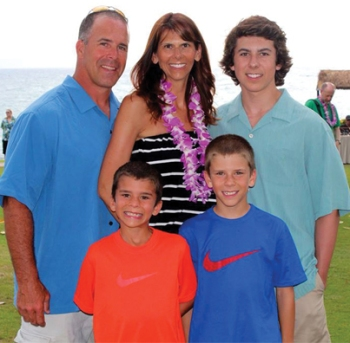Natalie and family enjoying the surprise of a lifetime in Hawaii